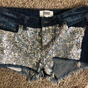 Pink glitter shorts size 6